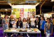 18 June 2018; Students of Bray School Project National School, Bray, Co Wicklow, with their teacher Deirdre Smith, from the 'Worry Friends' stand at the JEP National Showcase Day in the RDS Simmonscourt, Ballsbridge, Dublin. Photo by Eóin Noonan/Sportsfile