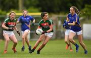 17 June 2018; Clara Barrett of Mayo in action during the All-Ireland Ladies Football U14 B Final between Mayo and Tipperary at Duggan Park in Ballinasloe, Co. Galway.  Photo by Harry Murphy/Sportsfile