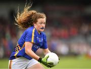 17 June 2018; Niamh Dunne of Tipperary in action during the All-Ireland Ladies Football U14 B Final between Mayo and Tipperary at Duggan Park in Ballinasloe, Co. Galway. Photo by Harry Murphy/Sportsfile