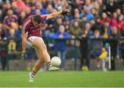 17 June 2018; Damien Comer of Galway scores a late point during the Connacht GAA Football Senior Championship Final match between Roscommon and Galway at Dr Hyde Park in Roscommon. Photo by Piaras Ó Mídheach/Sportsfile