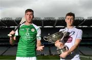18 June 2018; Christy Ring Cup finalists Brian Regan of London and Brian Byrne of Kildare during the unveiling of the Joe McDonagh and the launch of the Christy Ring, Nicky Rackard and Lory Meagher Cup Finals at Croke Park in Dublin. Photo by Piaras Ó Mídheach/Sportsfile