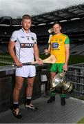 18 June 2018; Nicky Rackard Cup finalists Niall McKenna of Warwickshire and Danny Cullen of Donegal at the unveiling of the Joe McDonagh and the launch of the Christy Ring, Nicky Rackard and Lory Meagher Cup Finals at Croke Park in Dublin. Photo by Piaras Ó Mídheach/Sportsfile