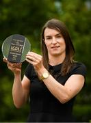 18 June 2018; Sinéad Aherne of Dublin with The Croke Park Hotel and LGFA Player of the Month award for May, at The Croke Park Hotel, Jones Road, in Dublin. Sinéad captained Dublin to the county's first Lidl Ladies National Football League Division 1 title on May 6, scoring 1-9 in the final against Mayo at Parnell Park and earning the prestigious Player of the Match award.  Photo by Piaras Ó Mídheach/Sportsfile