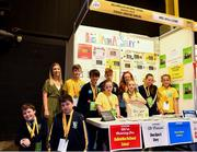 18 June 2018; Students from Ballykillen National School from Muinbeg, Carlow with their teacher Christine Dowling at the 'Once Upon a Story' stand during the JEP National Showcase Day in the RDS Simmonscourt, Ballsbridge, Dublin. Photo by Eóin Noonan/Sportsfile