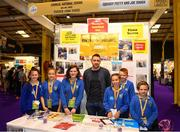 18 June 2018; Students from Cooneal National School, Cooneal, Mayo, with their teacher Eddie O'Hora at the Squishy Putty and Joe Dough stand during the JEP National Showcase Day in the RDS Simmonscourt, Ballsbridge, Dublin. Photo by Eóin Noonan/Sportsfile