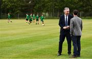 18 June 2018; John Delaney, CEO, Football Association of Ireland, and Stephen Bradley, Shamrock Rovers FC Head Coach, in attendance at the official opening of Shamrock Rovers state of the art 11-a-side and 7-a-side grass pitches and facilities at Roadstone Group Sports Club, Kingswood, Dublin. Photo by Stephen McCarthy/Sportsfile