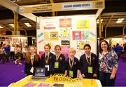 18 June 2018; Students from Roxboro National School, Roscommon with their teacher Clodagh McGarry at the Rocking Roxboro Recipies stand during the JEP National Showcase Day in the RDS Simmonscourt, Ballsbridge, Dublin. Photo by Eóin Noonan/Sportsfile