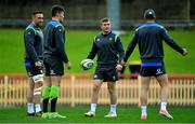 18 June 2018; Jordan Larmour, centre, with team-mates, from left, Jack Conan, Jacob Stockdale and Rob Kearney during Ireland rugby squad training at North Sydney Oval in Sydney, Australia. Photo by Brendan Moran/Sportsfile