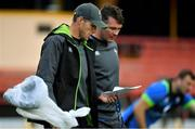 18 June 2018; Forwards coach Simon Easterby, left, with captain Peter O'Mahony during Ireland rugby squad training at North Sydney Oval in Sydney, Australia. Photo by Brendan Moran/Sportsfile