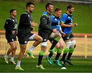 18 June 2018; Captain Peter O'Mahony with team-mates John Cooney, Conor Murray, Tadhg Furlong and Iain Henderson during Ireland rugby squad training at North Sydney Oval in Sydney, Australia. Photo by Brendan Moran/Sportsfile