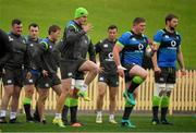 18 June 2018; Jonathan Sexton, centre, with team-mates, from left, Dave Kilcoyne, Cian Healy, Kieran Marmion, John Cooney, Tadhg Furlong and Iain Henderson during Ireland rugby squad training at North Sydney Oval in Sydney, Australia. Photo by Brendan Moran/Sportsfile