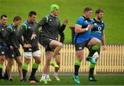 18 June 2018; Jonathan Sexton and team-mates Tadhg Furlong and Iain Henderson during Ireland rugby squad training at North Sydney Oval in Sydney, Australia. Photo by Brendan Moran/Sportsfile