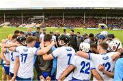 17 June 2018; Waterford manager Derek McGrath speaks to his players following the Munster GAA Hurling Senior Championship Round 5 match between Waterford and Cork at Semple Stadium in Thurles, Tipperary. Photo by Matt Browne/Sportsfile