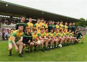 10 June 2018; The Donegal team during the GAA Football Senior Championship Semi-Final match between Donegal and Down at St Tiernach's Park in Clones, Monaghan. Photo by Philip Fitzpatrick/Sportsfile