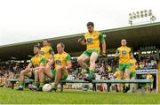 10 June 2018; The Donegal team prior to the Ulster GAA Football Senior Championship Semi-Final match between Donegal and Down at St Tiernach's Park in Clones, Monaghan. Photo by Oliver McVeigh/Sportsfile