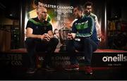 19 June 2018; Donegal assistant Manager Paul McGonigle, left, and Fermanagh Manager Rory Gallagher during an Ulster GAA Senior Football Championship Final press conference at O'Neill's Sports Store in Strabane, Co. Tyrone. Photo by Oliver McVeigh/Sportsfile