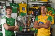19 June 2018; Tomas Corrigan of Fermanagh and Paul Brennan of Donegal during an Ulster GAA Senior Football Championship Final press conference at O'Neill's Sports Store in Strabane, Co Tyrone. Photo by Oliver McVeigh/Sportsfile