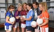 20 June 2018; The Ladies Gaelic Football Association and Orreco have announced a groundbreaking technology partnership which will see LGFA promote a new app for women, created by the world-leading Irish sports data, biomarker and performance experts. FitrWoman provides personalised day-to-day evidence based training and nutrition suggestions tailored to the changing hormones in a woman's menstrual cycle. Pictured at the launch are, from left, Sinéad Delahunty of Tipperary, Bernie Breen of Wexford, Tracey Leonard of Galway, Noëlle Healy of Dublin, Noelle Gormley of Sligo, and Marian McGuinness of Armagh, at today's launch at Croke Park in Dublin. Photo by Piaras Ó Mídheach/Sportsfile