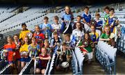 20 June 2018; The winning Hurling and Camogie captains from the recent Allianz Cumann na mBunscol Áth Cliath finals pictured at Croke Park in Dublin. Photo by David Fitzgerald/Sportsfile