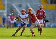 20 June 2018; Darragh Lyons of Waterford in action against Billy Hennessy of Cork during the Bord Gais Energy Munster Under 21 Hurling Championship Semi-Final match between Cork and Waterford at Pairc Ui Chaoimh in Cork. Photo by Eóin Noonan/Sportsfile