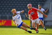 20 June 2018; Thomas Douglas of Waterford in action against David Griffin of Cork during the Bord Gais Energy Munster Under 21 Hurling Championship Semi-Final match between Cork and Waterford at Pairc Ui Chaoimh in Cork. Photo by Eóin Noonan/Sportsfile