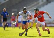 20 June 2018; John Paul Lucey of Waterford in action against Mark Coleman of Cork during the Bord Gais Energy Munster Under 21 Hurling Championship Semi-Final match between Cork and Waterford at Pairc Ui Chaoimh in Cork. Photo by Eóin Noonan/Sportsfile