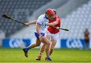 20 June 2018; Darragh Lyons of Waterford in action against Mark Coleman of Cork during the Bord Gais Energy Munster Under 21 Hurling Championship Semi-Final match between Cork and Waterford at Pairc Ui Chaoimh in Cork. Photo by Eóin Noonan/Sportsfile
