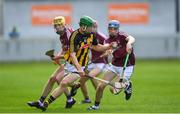 20 June 2018; Martin Keoghan of Kilkenny in action against Kevin Cooney of Galway during the Bord Gáis Energy Leinster GAA Hurling U21 Championship Semi-Final match between Kilkenny and Galway at Bord Na Mona O'Connor Park in Tullamore, Co Offaly. Photo by Harry Murphy/Sportsfile