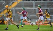 20 June 2018; Evan Niland of Galway celebrates after scoring his side's first goal during the Bord Gáis Energy Leinster GAA Hurling U21 Championship Semi-Final match between Kilkenny and Galway at Bord Na Mona O'Connor Park in Tullamore, Co Offaly. Photo by Harry Murphy/Sportsfile