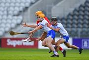 20 June 2018; Peter Hogan of Waterford in action against Billy Hennessy of Cork during the Bord Gais Energy Munster Under 21 Hurling Championship Semi-Final match between Cork and Waterford at Pairc Ui Chaoimh in Cork. Photo by Eóin Noonan/Sportsfile