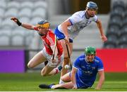 20 June 2018; Billy Nolan of Waterford saves a shot on goal by Conor Cahalane of Cork during the Bord Gais Energy Munster Under 21 Hurling Championship Semi-Final match between Cork and Waterford at Pairc Ui Chaoimh in Cork. Photo by Eóin Noonan/Sportsfile