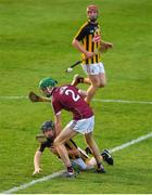 20 June 2018; Conor Hennsessy of Kilkenny in action against Ian O'Shea of Galway during the Bord Gáis Energy Leinster GAA Hurling U21 Championship Semi-Final match between Kilkenny and Galway at Bord Na Mona O'Connor Park in Tullamore, Co Offaly. Photo by Harry Murphy/Sportsfile
