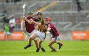 20 June 2018; Conor Hennsessy of Kilkenny in action against Brian Concannon, left, and Jack Grealish of Galway during the Bord Gáis Energy Leinster GAA Hurling U21 Championship Semi-Final match between Kilkenny and Galway at Bord Na Mona O'Connor Park in Tullamore, Co Offaly. Photo by Harry Murphy/Sportsfile