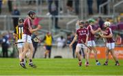 20 June 2018; Sean Loftus of Galway celebrates after the Bord Gáis Energy Leinster GAA Hurling U21 Championship Semi-Final match between Kilkenny and Galway at Bord Na Mona O'Connor Park in Tullamore, Co Offaly. Photo by Harry Murphy/Sportsfile