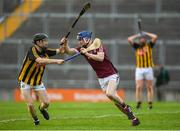 20 June 2018; Shane Bannon of Galway in action against Sean Carey of Kilkenny during the Bord Gáis Energy Leinster GAA Hurling U21 Championship Semi-Final match between Kilkenny and Galway at Bord Na Mona O'Connor Park in Tullamore, Co Offaly. Photo by Harry Murphy/Sportsfile