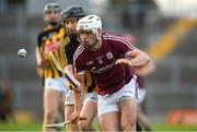 20 June 2018; Mark Hughes of Galway in action against Sean Carey of Kilkenny during the Bord Gáis Energy Leinster GAA Hurling U21 Championship Semi-Final match between Kilkenny and Galway at Bord Na Mona O'Connor Park in Tullamore, Co Offaly. Photo by Harry Murphy/Sportsfile