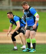 21 June 2018; Tadhg Furlong, right and Jack Conan during Ireland rugby squad training at North Sydney Oval in Sydney, Australia. Photo by Brendan Moran/Sportsfile