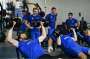 21 June 2018; The Leinster Rugby players were back for pre-season training today in UCD and new kit partner adidas were on hand to kit out the players with their new training apparel for 2018/19. The adidas boot van was also on site in UCD for players to try on the latest adidas footwear ahead of pre-season training. The new adidas Leinster Rugby training kit will be available to pre-order from Life Style Sports from this Friday, 22nd June 2018 at lifestylesports.com. Pictured is Barry Daly during squad training. Photo by Ramsey Cardy/Sportsfile