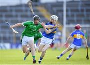 21 June 2018; Peter Casey of Limerick in action against Killian O'Dwyer of Tipperary during the Bord Gais Energy Munster Under 21 Hurling Championship Semi-Final match between Tipperary and Limerick at Semple Stadium in Thurles, Tipperary. Photo by Eóin Noonan/Sportsfile