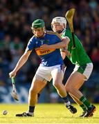 21 June 2018; Brian McGrath of Tipperary in action against Mark O'Dwyer of Limerick during the Bord Gais Energy Munster Under 21 Hurling Championship Semi-Final match between Tipperary and Limerick at Semple Stadium in Thurles, Tipperary. Photo by Eóin Noonan/Sportsfile