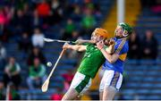 21 June 2018; Seamus Flanagan of Limerick in action against Brian McGrath of Tipperary during the Bord Gais Energy Munster Under 21 Hurling Championship Semi-Final match between Tipperary and Limerick at Semple Stadium in Thurles, Tipperary. Photo by Eóin Noonan/Sportsfile