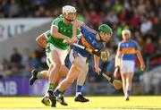 21 June 2018; Paudie Feehan of Tipperary is tackled by Kyle Hayes of Limerick during the Bord Gais Energy Munster Under 21 Hurling Championship Semi-Final match between Tipperary and Limerick at Semple Stadium in Thurles, Tipperary. Photo by Eóin Noonan/Sportsfile