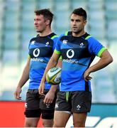 22 June 2018; Conor Murray, right and captain Peter O'Mahony during the Ireland rugby squad captain's run at Allianz Stadium in Sydney, Australia. Photo by Brendan Moran/Sportsfile