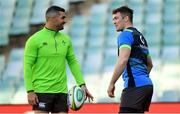 22 June 2018; Captain Peter O'Mahony, right, with Rob Kearney during the Ireland rugby squad captain's run at Allianz Stadium in Sydney, Australia. Photo by Brendan Moran/Sportsfile