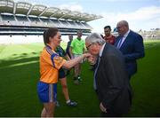 22 June 2018; President of the European Commission Jean-Claude Juncker kisses the hand of Eve O'Brien, Na Fianna GAA Club, Dublin, during a visit to Croke Park in Dublin. Photo by Stephen McCarthy/Sportsfile