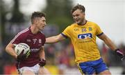 17 June 2018; Johnny Heaney of Galway in action against Ultan Harney of Roscommon during the Connacht GAA Football Senior Championship Final match between Roscommon and Galway at Dr Hyde Park in Roscommon. Photo by Piaras Ó Mídheach/Sportsfile