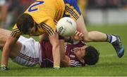 17 June 2018; Johnny Heaney of Galway is tackled by David Murray of Roscommon during the Connacht GAA Football Senior Championship Final match between Roscommon and Galway at Dr Hyde Park in Roscommon. Photo by Piaras Ó Mídheach/Sportsfile
