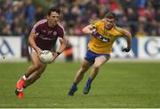 17 June 2018; Seán Armstrong of Galway in action against Finbar Cregg of Roscommon during the Connacht GAA Football Senior Championship Final match between Roscommon and Galway at Dr Hyde Park in Roscommon. Photo by Piaras Ó Mídheach/Sportsfile