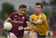 17 June 2018; Shane Walsh of Galway in action against Niall McInerney of Roscommon during the Connacht GAA Football Senior Championship Final match between Roscommon and Galway at Dr Hyde Park in Roscommon. Photo by Piaras Ó Mídheach/Sportsfile