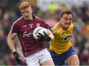 17 June 2018; Seán Andy Ó Ceallaigh of Galway in action against Enda Smith of Roscommon during the Connacht GAA Football Senior Championship Final match between Roscommon and Galway at Dr Hyde Park in Roscommon. Photo by Piaras Ó Mídheach/Sportsfile